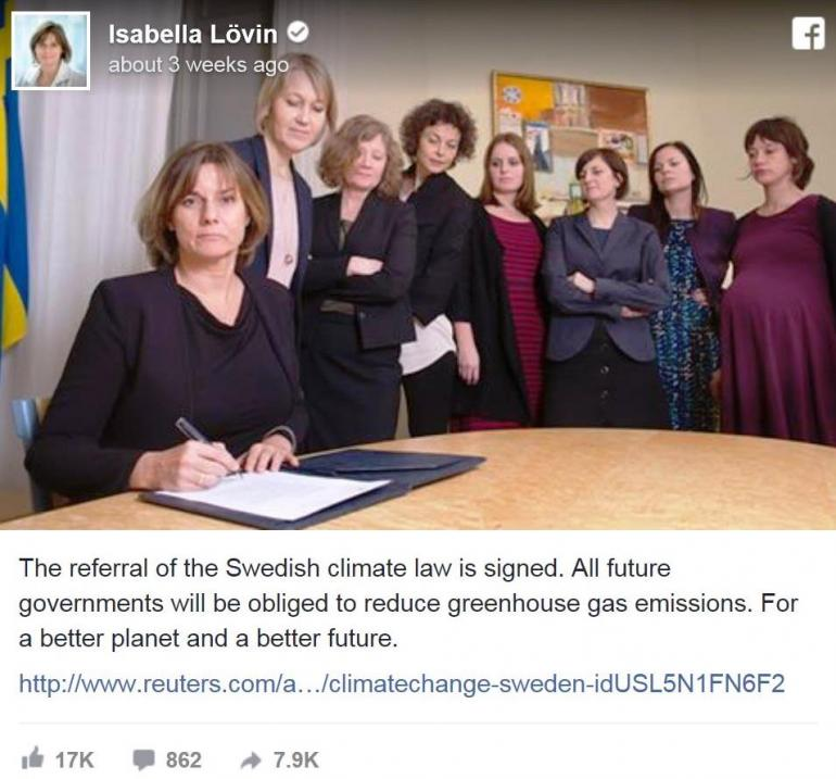 The referral of the Swedish climate law is signed ( © orf.at / reuters.com )